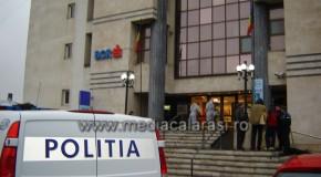 Bancomatul de la sediul central BCR din Călărași, spart