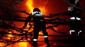 Intervenţie la incendiu de plante furajere în municipiul Călăraşi, pe strada Rândunelelor