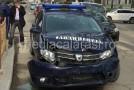 O mașină a Jandarmeriei implicată într-un accident rutier