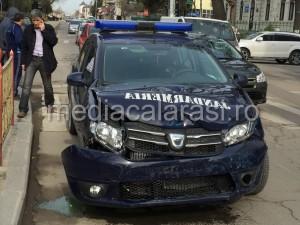 Autoturismul implicat in accident